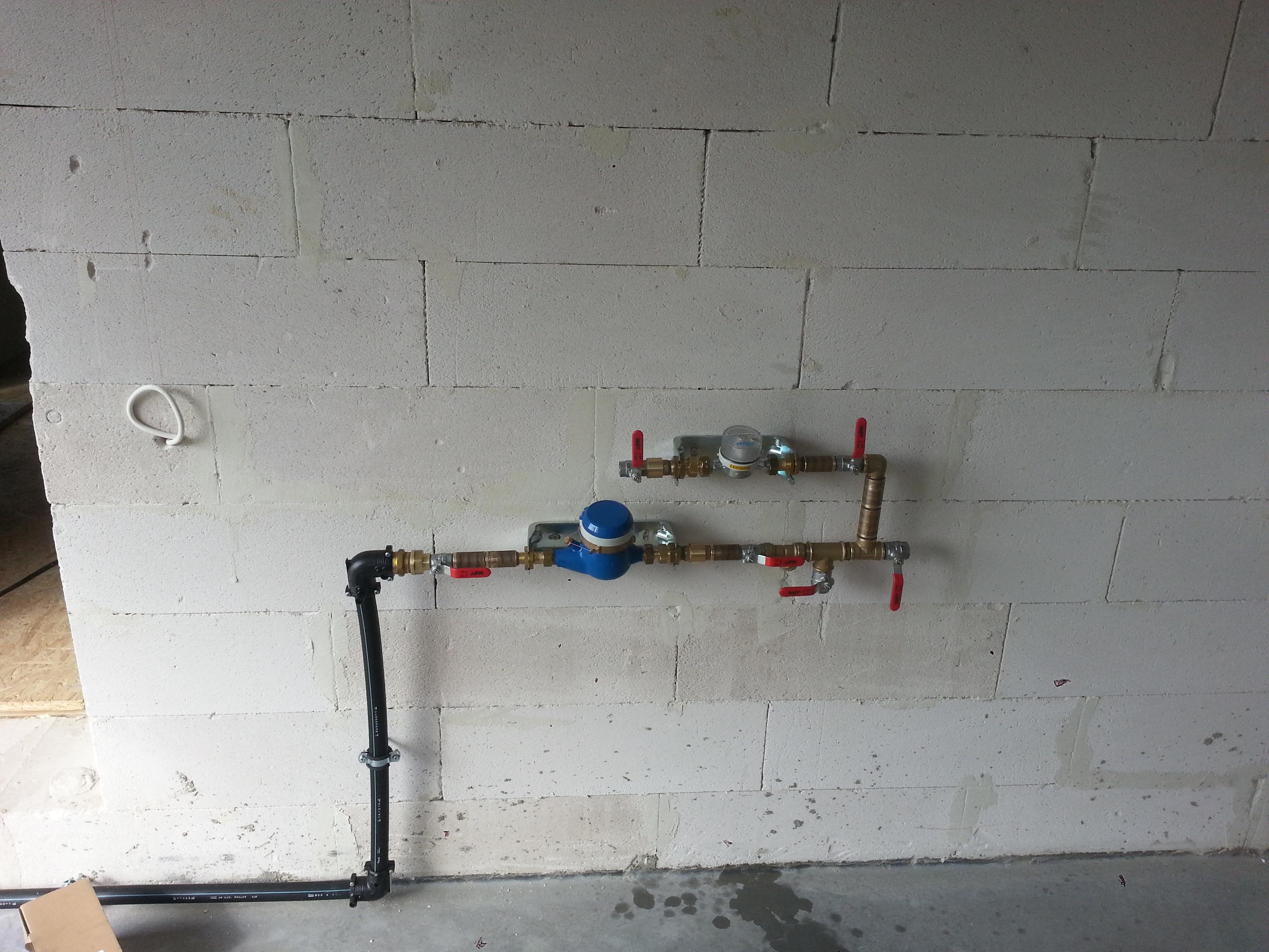 Peaveemõõdu-       sõlm koos aiakastmis veemõõdusõlme-   ga