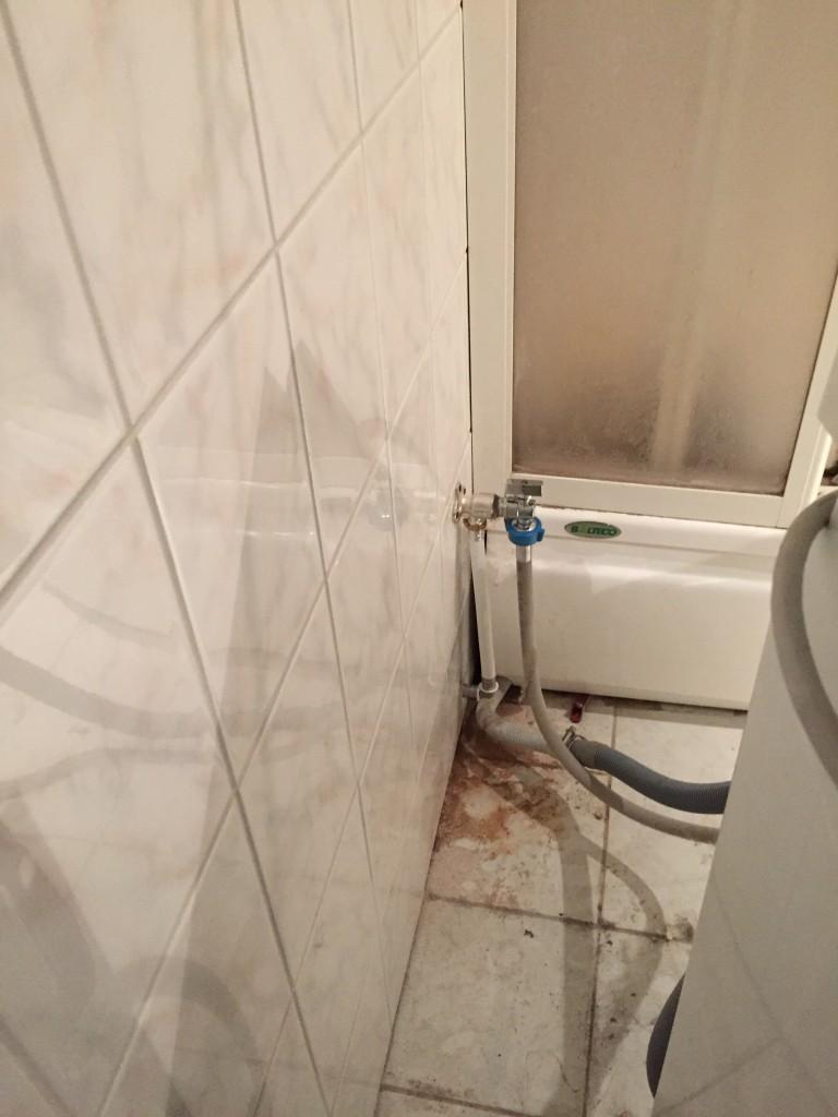 Pesumasinale spetsiaalne kraaniga ots seinal